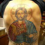 Фото тату Иисуса Христа №245 - крутой вариант рисунка, который легко можно использовать для переработки и нанесения как тату иисуса христа и дьявола