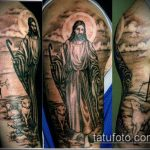 Фото тату Иисуса Христа №848 - классный вариант рисунка, который легко можно использовать для переделки и нанесения как тату иисуса христа на запястье