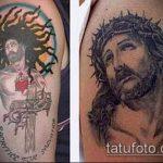 Фото тату Иисуса Христа №373 - достойный вариант рисунка, который легко можно использовать для преобразования и нанесения как тату иисуса христа на боку