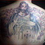 Фото тату Иисуса Христа №96 - уникальный вариант рисунка, который успешно можно использовать для переделки и нанесения как тату иисуса христа в кресте