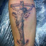 Фото тату Иисуса Христа №598 - классный вариант рисунка, который легко можно использовать для преобразования и нанесения как тату иисуса христа на предплечье