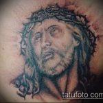 Фото тату Иисуса Христа №251 - достойный вариант рисунка, который легко можно использовать для преобразования и нанесения как тату иисуса христа на боку