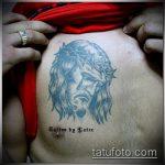 Фото тату Иисуса Христа №675 - классный вариант рисунка, который удачно можно использовать для доработки и нанесения как тату иисуса христа на предплечье