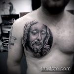 Фото тату Иисуса Христа №562 - классный вариант рисунка, который хорошо можно использовать для переделки и нанесения как тату иисуса христа на предплечье