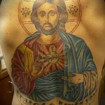 Фото тату Иисуса Христа №825 - уникальный вариант рисунка, который удачно можно использовать для преобразования и нанесения как тату иисуса христа на запястье