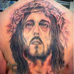 Фото тату Иисуса Христа №839 - интересный вариант рисунка, который удачно можно использовать для доработки и нанесения как тату иисуса христа в кресте