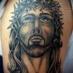 Фото тату Иисуса Христа №519 - достойный вариант рисунка, который хорошо можно использовать для переработки и нанесения как тату иисуса христа на предплечье