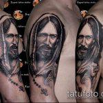 Фото тату Иисуса Христа №97 - достойный вариант рисунка, который хорошо можно использовать для преобразования и нанесения как тату иисуса христа на плече