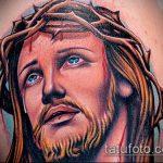 Фото тату Иисуса Христа №5 - крутой вариант рисунка, который хорошо можно использовать для преобразования и нанесения как тату иисуса христа на боку