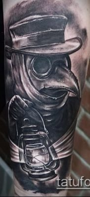 Фото тату Чумной доктор – 16062017 – пример – 024 Tattoo Plague Doctor