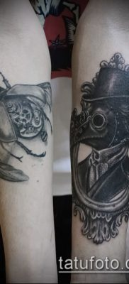 Фото тату Чумной доктор – 16062017 – пример – 038 Tattoo Plague Doctor