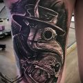 Фото тату Чумной доктор - 16062017 - пример - 121 Tattoo Plague Doctor