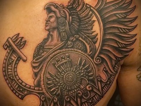 Фото тату ацтеков - 01062017 - пример - 037 Aztec tattoo