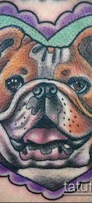 Фото тату бульдог – 03062017 – пример – 010 Bulldog tattoo