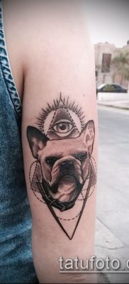 Фото тату бульдог – 03062017 – пример – 025 Bulldog tattoo