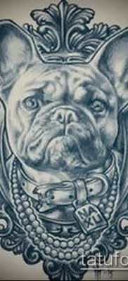 Фото тату бульдог – 03062017 – пример – 045 Bulldog tattoo