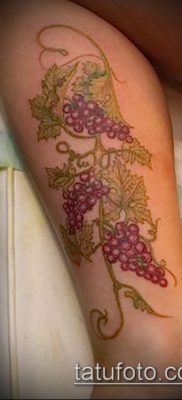 Фото тату виноград – 20062017 – пример – 001 Tattoo grapes_tatufoto.com