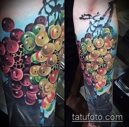 Фото тату виноград - 20062017 - пример - 005 Tattoo grapes_tatufoto.com
