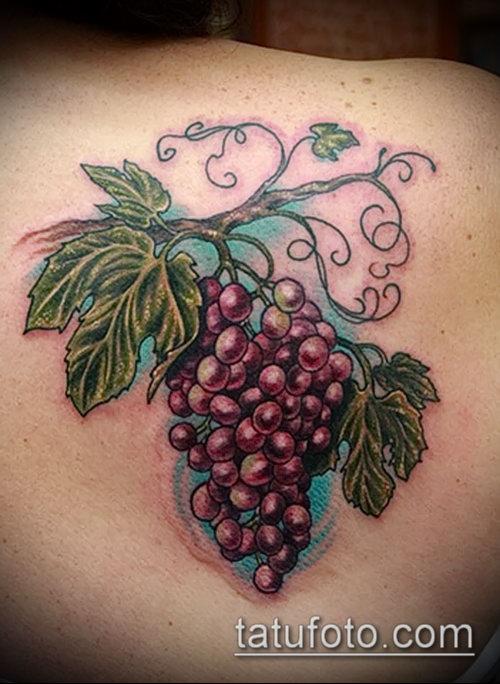 Фото тату виноград - 20062017 - пример - 009 Tattoo grapes_tatufoto.com