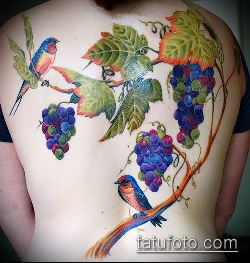 Фото тату виноград - 20062017 - пример - 010 Tattoo grapes_tatufoto.com