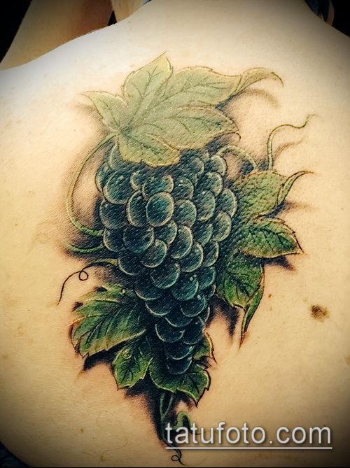 Фото тату виноград - 20062017 - пример - 016 Tattoo grapes_tatufoto.com