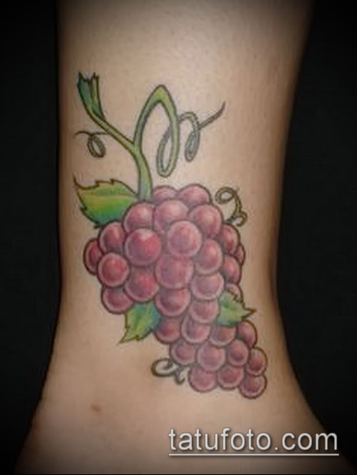 Фото тату виноград - 20062017 - пример - 020 Tattoo grapes_tatufoto.com