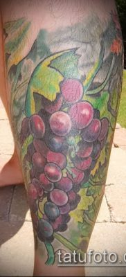 Фото тату виноград – 20062017 – пример – 029 Tattoo grapes_tatufoto.com