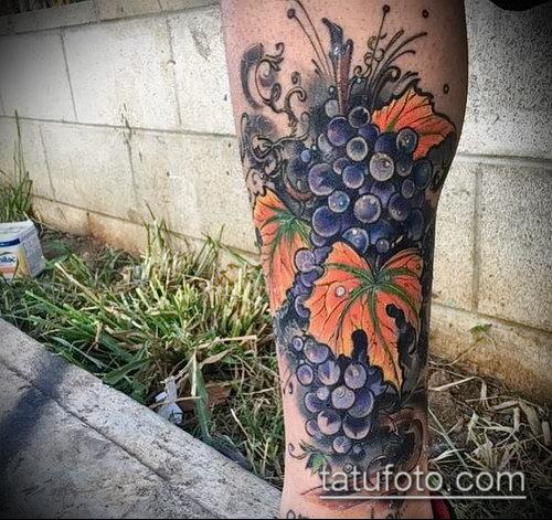 Фото тату виноград - 20062017 - пример - 030 Tattoo grapes_tatufoto.com