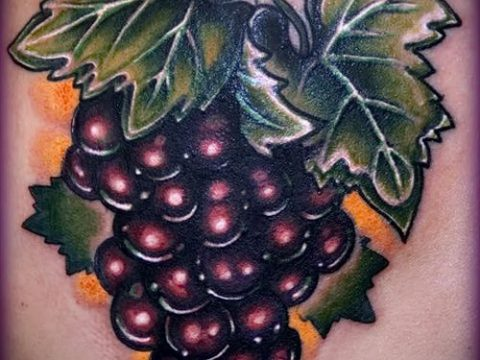 Фото тату виноград - 20062017 - пример - 032 Tattoo grapes_tatufoto.com