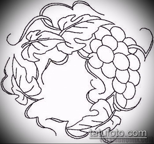 Фото тату виноград - 20062017 - пример - 036 Tattoo grapes_tatufoto.com