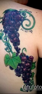 Фото тату виноград – 20062017 – пример – 041 Tattoo grapes_tatufoto.com