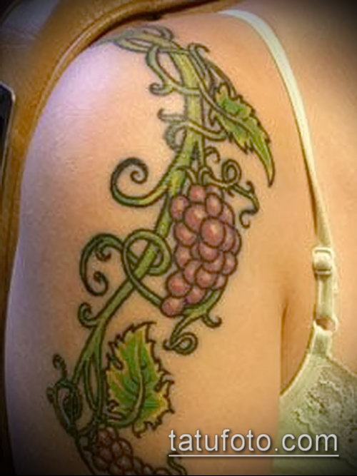 Фото тату виноград - 20062017 - пример - 044 Tattoo grapes_tatufoto.com