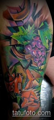 Фото тату виноград – 20062017 – пример – 048 Tattoo grapes_tatufoto.com