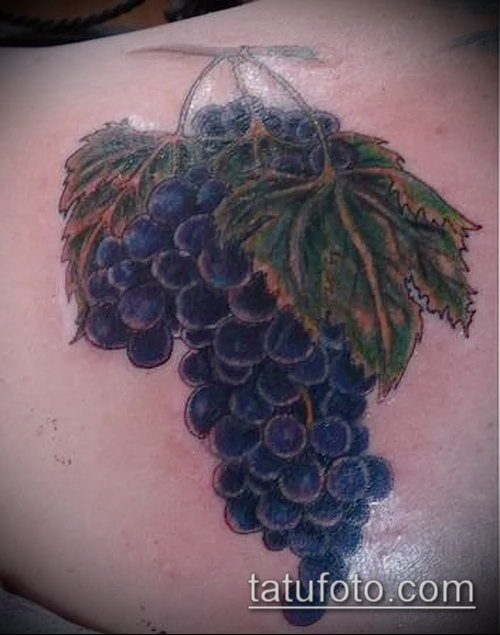 Фото тату виноград - 20062017 - пример - 049 Tattoo grapes_tatufoto.com