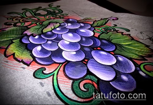 Фото тату виноград - 20062017 - пример - 053 Tattoo grapes_tatufoto.com