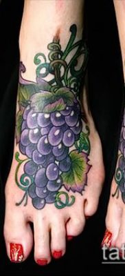 Фото тату виноград – 20062017 – пример – 054 Tattoo grapes_tatufoto.com