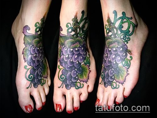 Фото тату виноград - 20062017 - пример - 054 Tattoo grapes_tatufoto.com