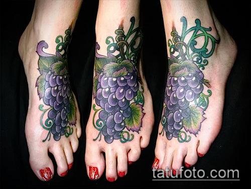 Фото тату виноград - 20062017 - пример - 054 Tattoo grapes_tatufoto.com
