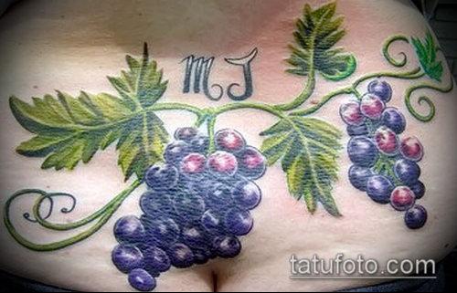 Фото тату виноград - 20062017 - пример - 058 Tattoo grapes_tatufoto.com