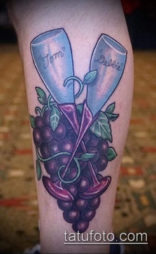 Фото тату виноград - 20062017 - пример - 067 Tattoo grapes_tatufoto.com