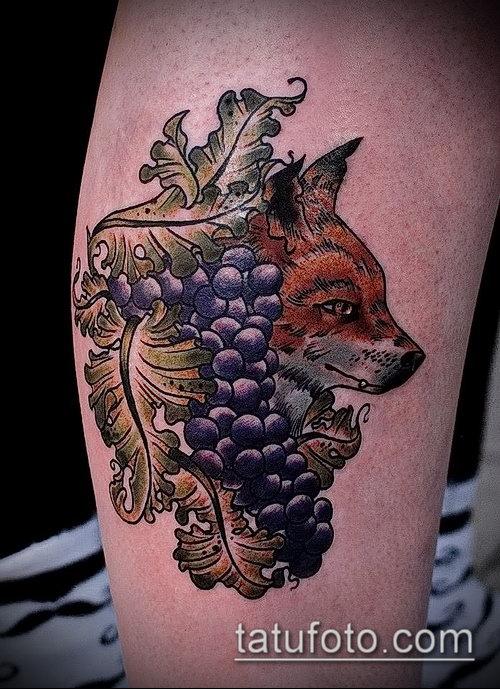 Фото тату виноград - 20062017 - пример - 077 Tattoo grapes_tatufoto.com