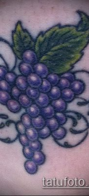 Фото тату виноград – 20062017 – пример – 090 Tattoo grapes_tatufoto.com