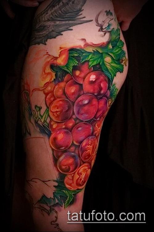 Фото тату виноград - 20062017 - пример - 095 Tattoo grapes_tatufoto.com