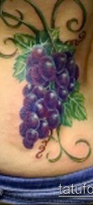 Фото тату виноград – 20062017 – пример – 096 Tattoo grapes_tatufoto.com