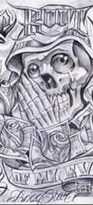 Фото тату в стиле Чикано – 05062017 – пример – 003 Tattoo in the style of Chicano