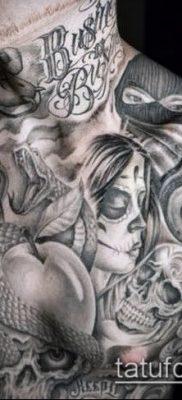 Фото тату в стиле Чикано – 05062017 – пример – 004 Tattoo in the style of Chicano