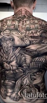 Фото тату в стиле Чикано – 05062017 – пример – 005 Tattoo in the style of Chicano