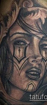 Фото тату в стиле Чикано – 05062017 – пример – 011 Tattoo in the style of Chicano