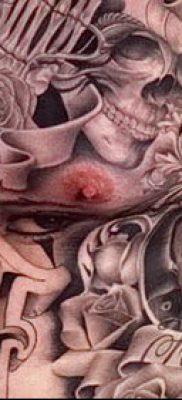 Фото тату в стиле Чикано – 05062017 – пример – 032 Tattoo in the style of Chicano