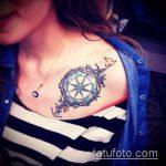Фото тату звезды на ключице №355 - прикольный вариант рисунка, который удачно можно использовать для переработки и нанесения как тату звезды на ключицах у девушек